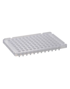 96well PCR plate, 0.1ml, Half Skirted, Natural, 10 plates