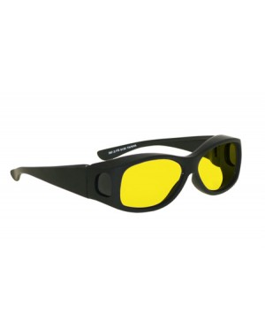 Model 33B Fitover Forensic Glasses Black Frame