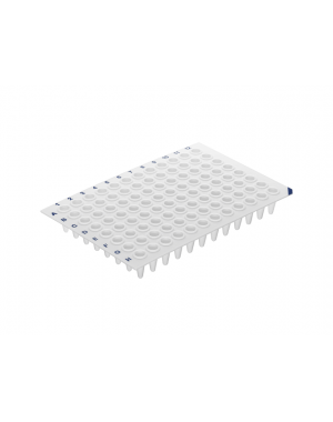 96-Well qPCR Plate white, low profile, no skirt C10 x 5 Plate/case