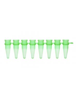 PCR Strip of 8 Tubes green 0.2 ml 125/Case