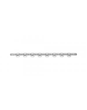 PCR Strip of 8 flat Caps clear 125/Case