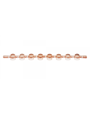 PCR Strip of 8 domed Caps rose 125/Case