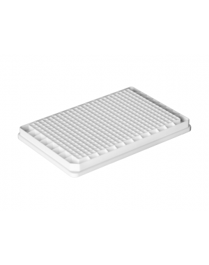 384-well microplate PS white 50/case