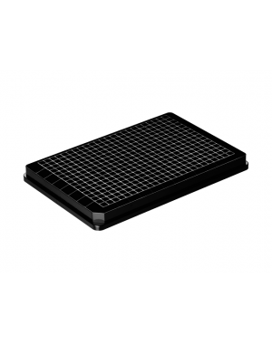 384-well microplate PS black 50/case